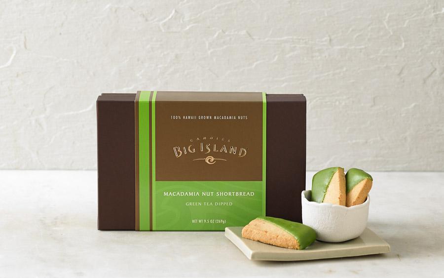 Macadamia Nut Shortbread – Green Tea Dipped