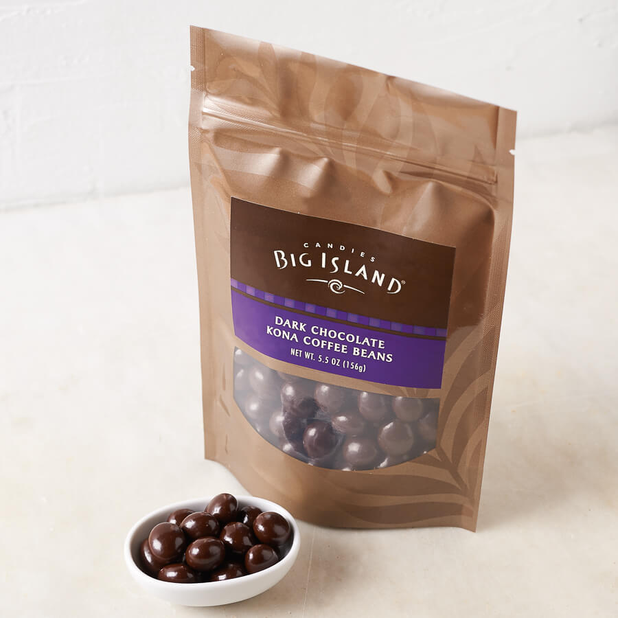 Dark Chocolate Kona Coffee Beans